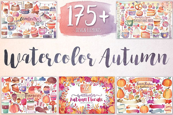 70+ Best Fall & Autumn Clip Art Collection in 2020