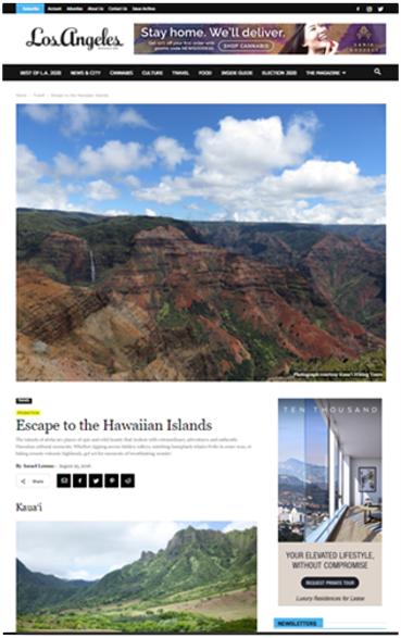 Hawaii Co-op Custom Article on LA Mag