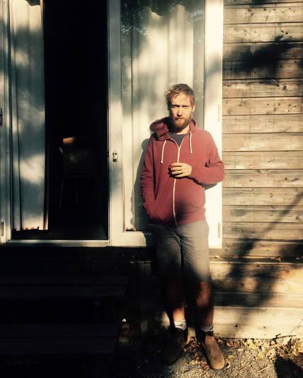 guy light trailer nature photography portrait