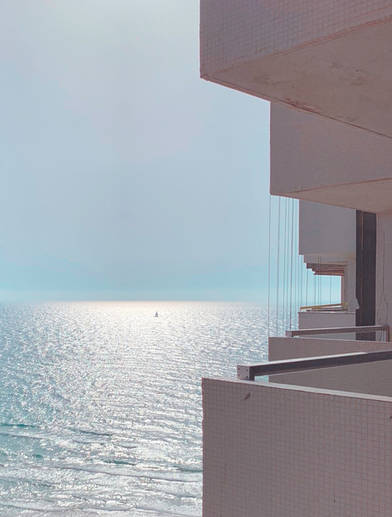 Israel ocean beach architecture