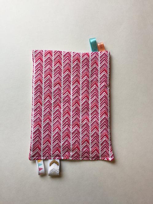 Pink Chevron Stripes /  Spring Paisley