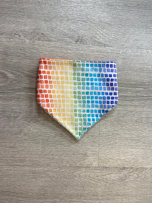 Rainbow Squares Bandana Bib