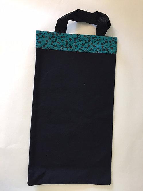 Teal and Black Small Bag
