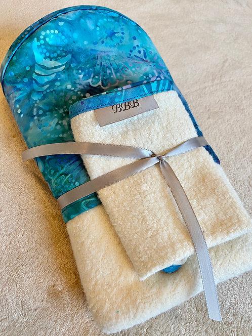Seashells Hooded Baby Towel Set