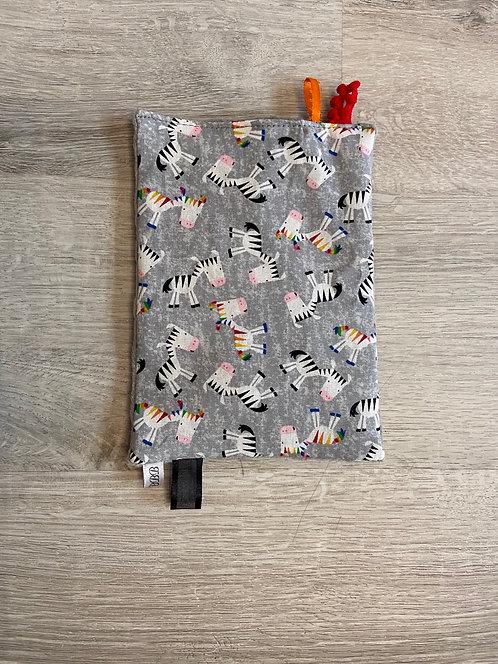 Rainbow Zebra Crinkle Paper