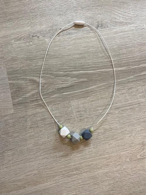 Gray Ombré Silicon Bead Necklace