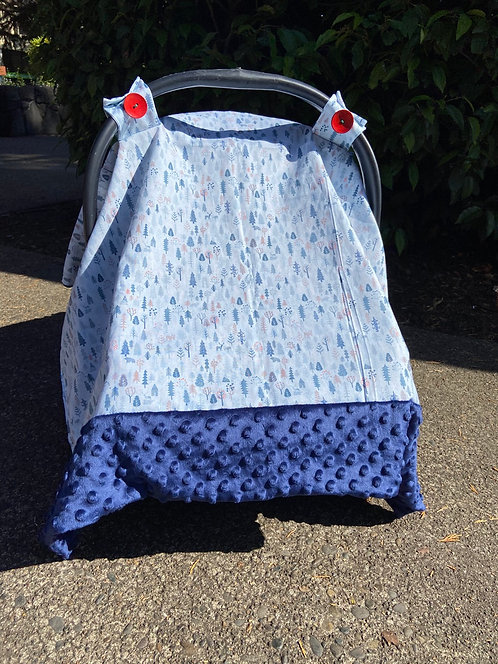 Blue Forest Car Seat Canopy