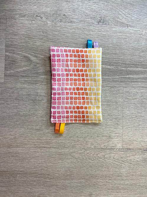 Rainbow Squares Crinkle Paper
