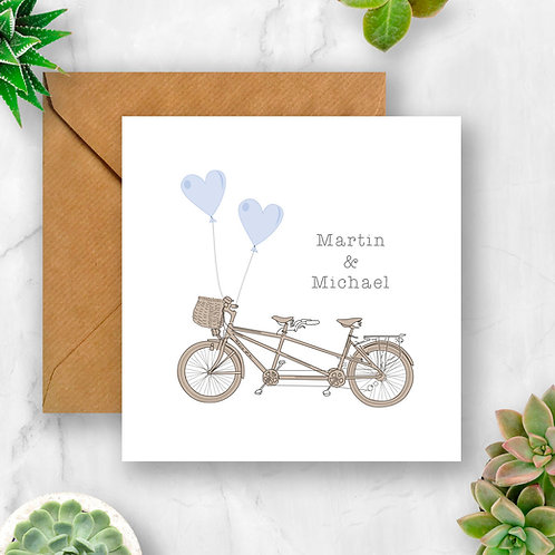 Personalised Tandem Card (Blues)