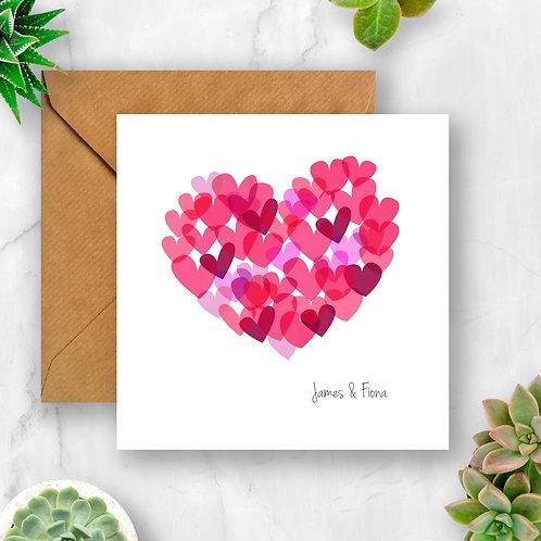 Personalised Multi Heart Card