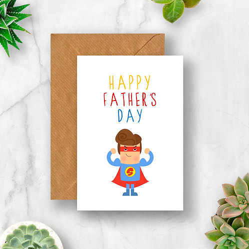 Superhero Happy Father's Day Card