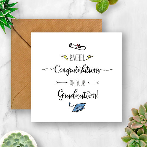 Personalised Congratulations On Your Graduation Ca