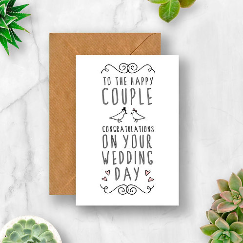 The Happy Couple Wedding Card