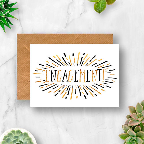 Engagement Sunburst Card