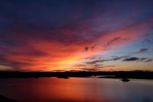 Winter sunset, Grimshader, Isle of Lewis