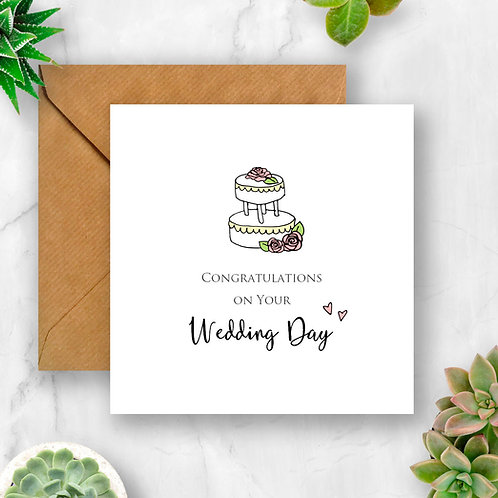 Wedding Congratulations with Cake Card