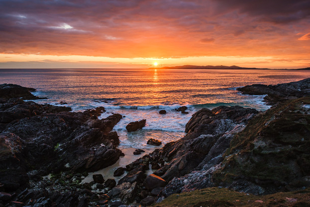 Nisabost sunset, Isle of Harris
