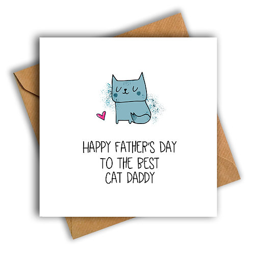 Cat Daddy Happy Father's Day Card