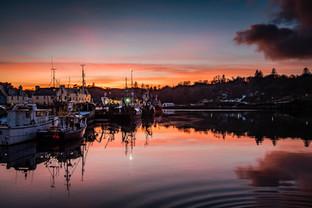 Winter sunset, Stornoway
