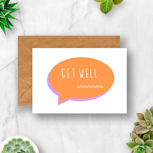 Get Well Speech Bubble Card