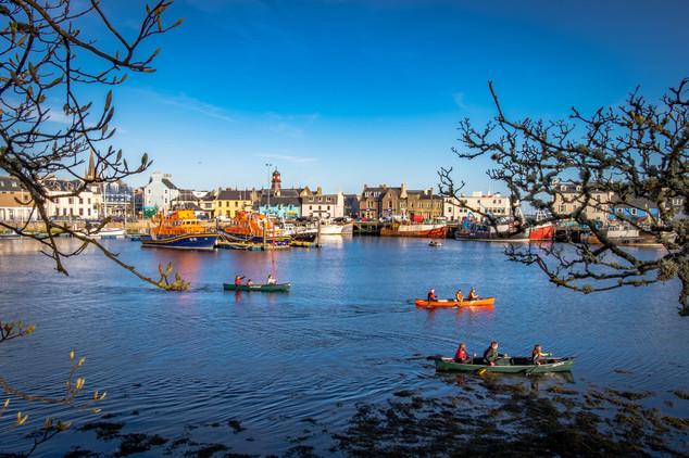 Kayaking in Stornoway harbour