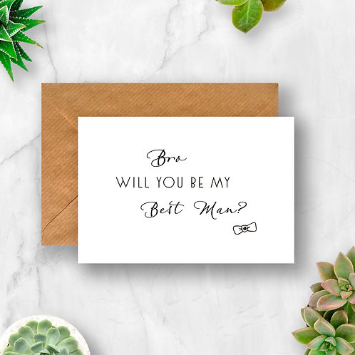 Personalised Will You Be My Best Man? Crystal Card