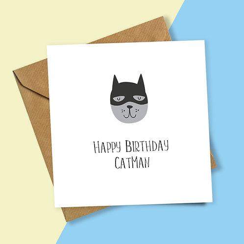 Happy Birthday Catman Card