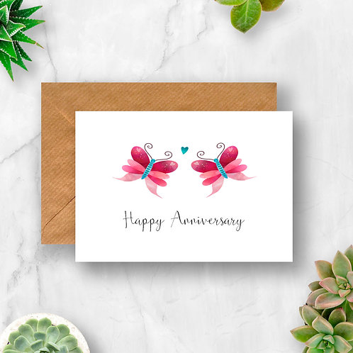 Butterfly Happy Anniversary Card