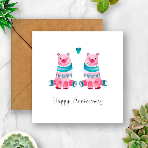 Bears Happy Anniversary Card