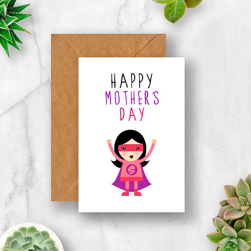 Superhero Happy Mother's Day Card