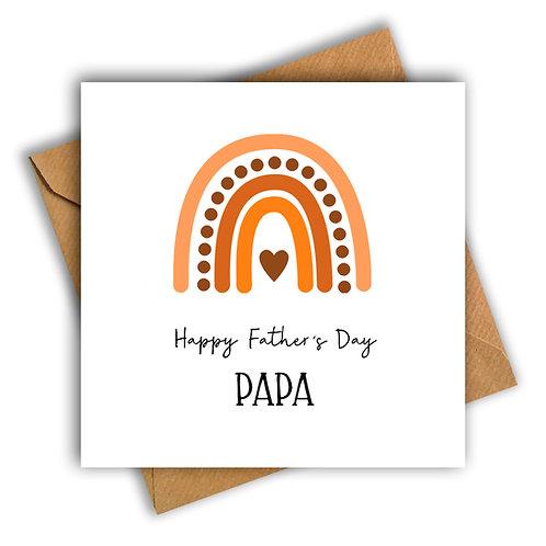 Rainbow Happy Father's Day Card (Orange)