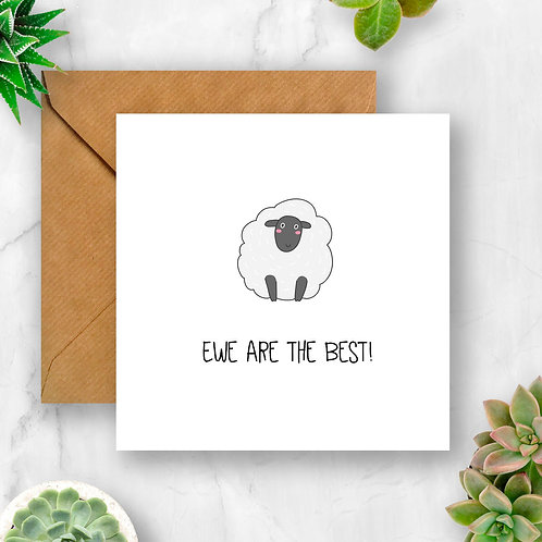 Ewe Are the Best Card