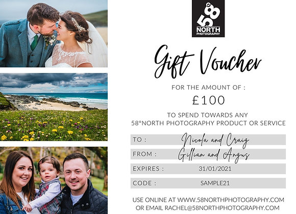 58° North Photography Gift Voucher
