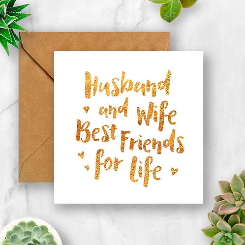 Husband and Wife Best Friends for Life Card