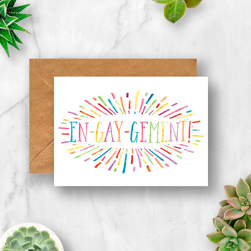 En-gay-gement Sunburst Card