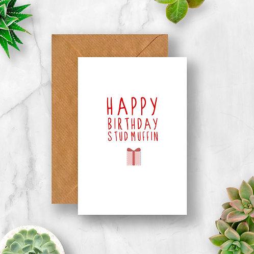 Stud Muffin Birthday Card