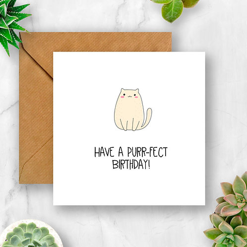 Have a Purr-fect Birthday Card