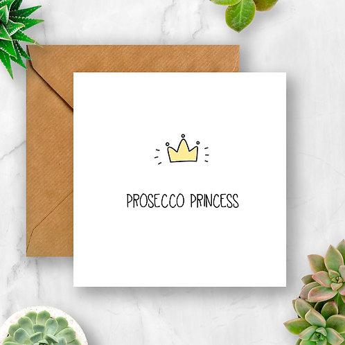 Prosecco Princess Card