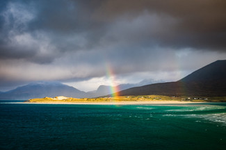 Rainbow over Luskentyre, Isle of Harris