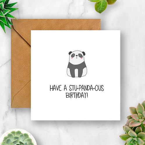 Have a Stu-panda-ous Birthday Card