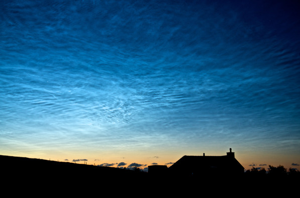 Noctilucent clouds, Isle of Lewis
