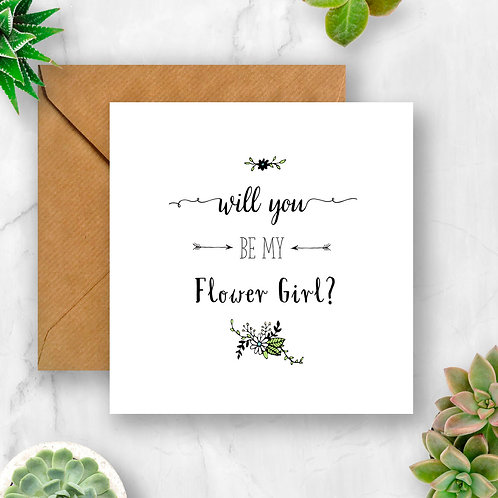 Will You Be My Flower Girl? Flower Card