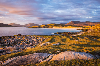 Spring sunset, Nisabost, Isle of Harris