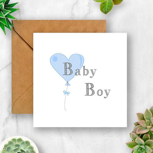 Baby Boy Balloon Card