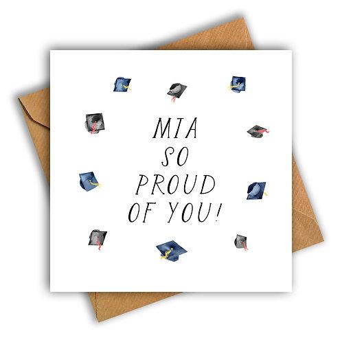 Graduation Caps So Proud of You Card