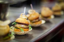 Duck liver burger