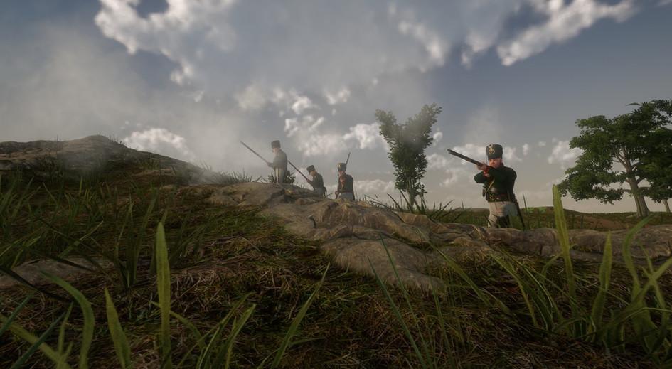 Jägertraining im Gelände