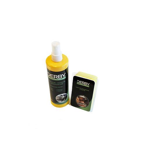 Ulei siliconic parfumat pentru bord Pin 300 ml + burete DERBY