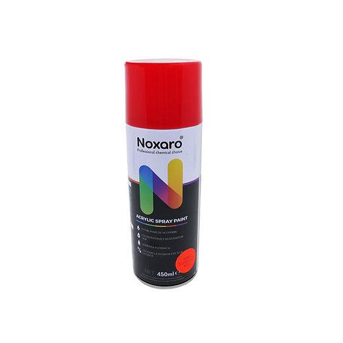 Vopsea spray rezistenta la temp. inalta Rosu fluorescent 450ml NOXARO