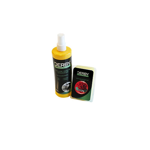 Ulei siliconic parfumat pentru bord Trandafir 300 ml + burete DERBY